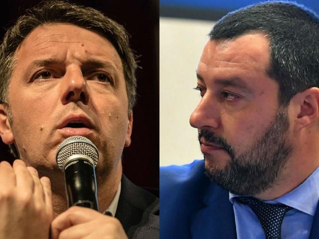 Gufi e sciacalli, duello Salvini-Renzi