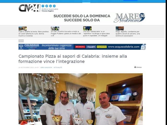 Campionato Pizza ai sapori di Calabria: insieme alla formazione vince l'integrazione