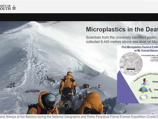 Trovate microplastiche sulla vetta dell'Everest