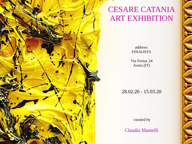 Ad Aosta la nuova mostra di Cesare Catania