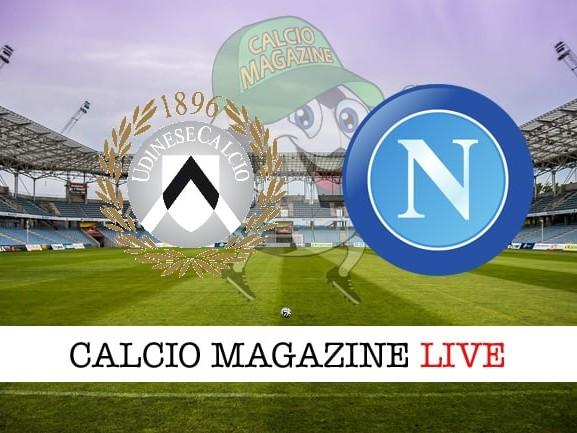 Udinese – Napoli: cronaca diretta live, risultato in tempo reale