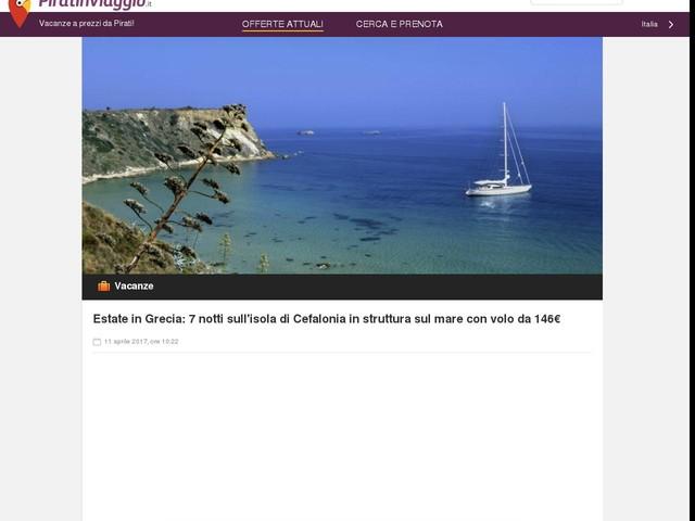 Estate in Grecia: 7 notti sull'isola di Cefalonia in struttura sul mare con volo da 146€