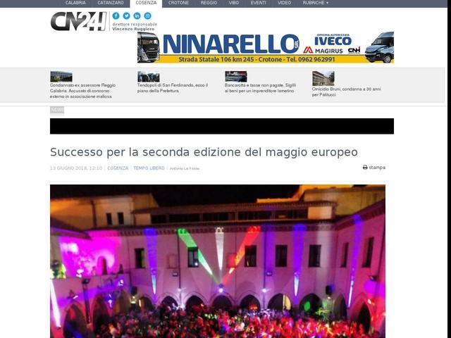 Successo per la seconda edizione del maggio europeo