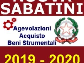 NUOVA SABATINI: aggiornamento dei dati a settembre 2019 per la richiesta agevolazioni per l'acquisto di beni strumentali delle imprese.