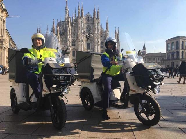 Poste italiane, 50 tricicli elettrici a Milano