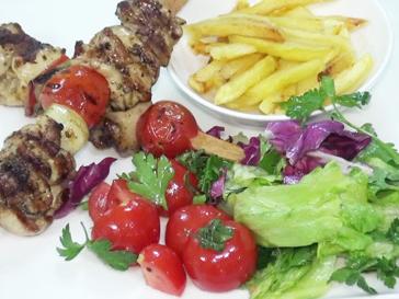 Spiedini di pollo turchi