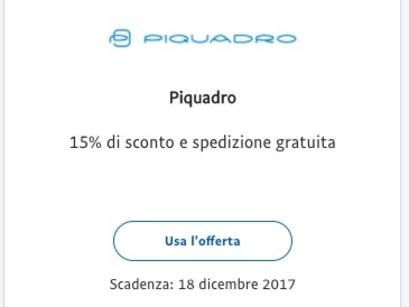 Piquadro Codice Coupon Sconto 15% Dicembre 2017
