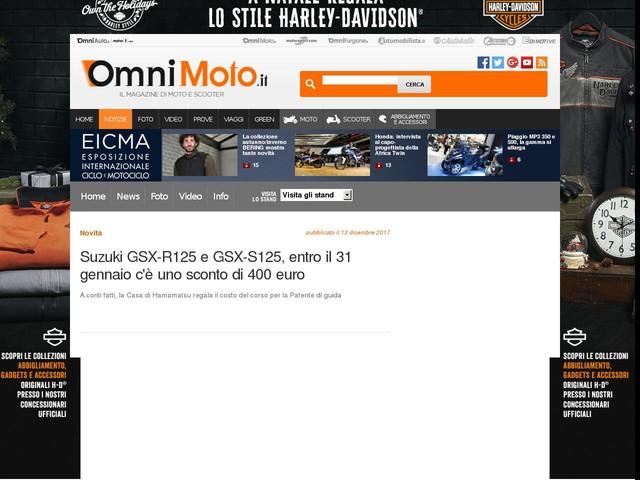 Suzuki GSX-R125 e GSX-S125, entro il 31 gennaio c'è uno sconto di 400 euro