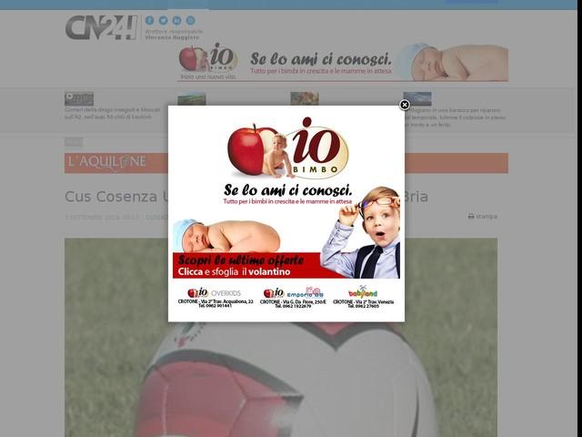 Cus Cosenza UniCal calcio 11 parte con Piero Bria
