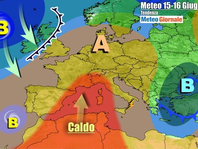 METEO Italia. Decolla l'ESTATE, tra GRAN CALDO e isolati TEMPORALI