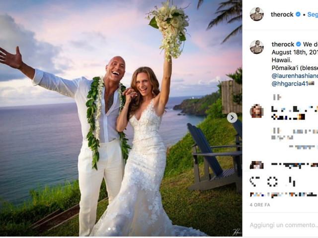 The Rock si è sposato alle Hawaii
