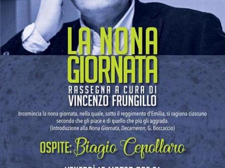 La Nona Giornata: Vincenzo Frungillo conversa con Biagio Cepollaro Converserò con Vincenzo sulla trilogia Il poema delle qualità