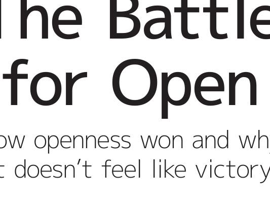 La battaglia per l'open | Cap. 2 – Che tipo di openness? | Par. 5 – Conclusioni