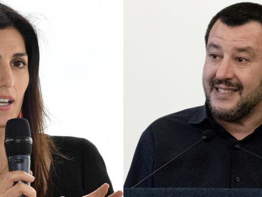 I battibecchi tra Matteo Salvini e Virginia Raggi