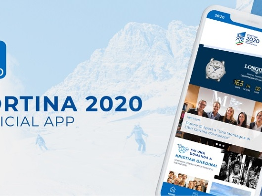 CS | Fondazione Cortina 2021 e IQUII ancora insieme: una nuova app per le Finali di Coppa del Mondo Cortina 2020.