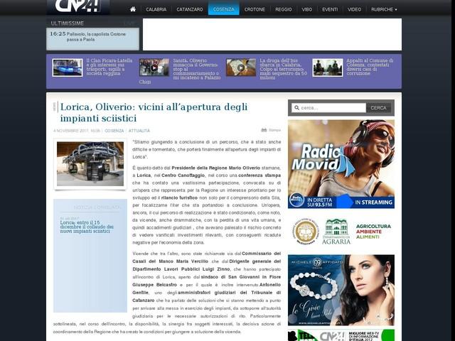 Lorica, Oliverio: vicini all'apertura degli impianti sciistici