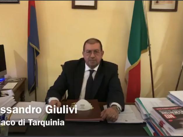 Tarquinia, video messaggio del sindaco Alessandro Giulivi