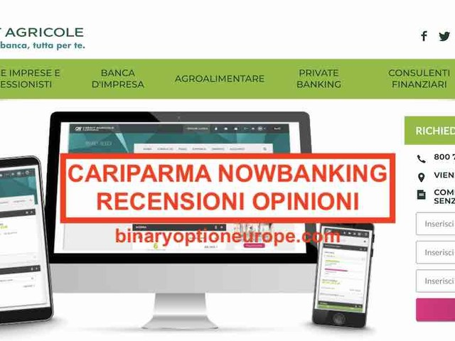 Cariparma Nowbanking recensioni opinioni [2019] Alternative valide