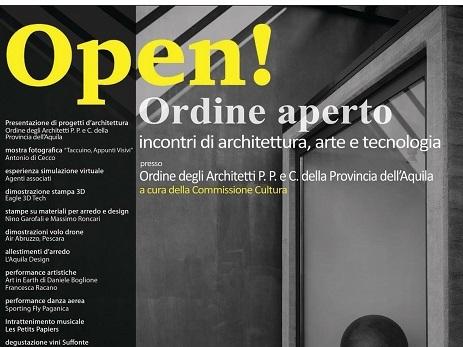 Open! L'Ordine degli architetti della provincia dell'Aquila aperto