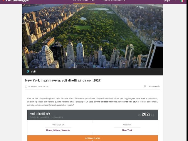 New York in primavera: voli diretti a/r da soli 282€!