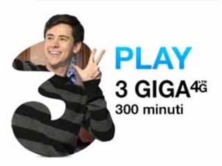 Tre play New: la tariffa speciale a 3€
