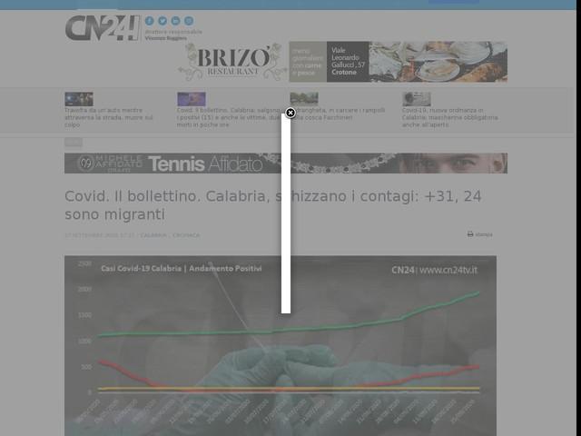 Covid. Il bollettino. Calabria, schizzano i contagi: +31, 24 sono migranti