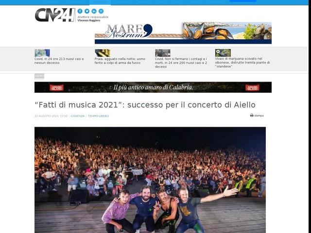 """""""Fatti di musica 2021"""": successo per il concerto di Aiello"""