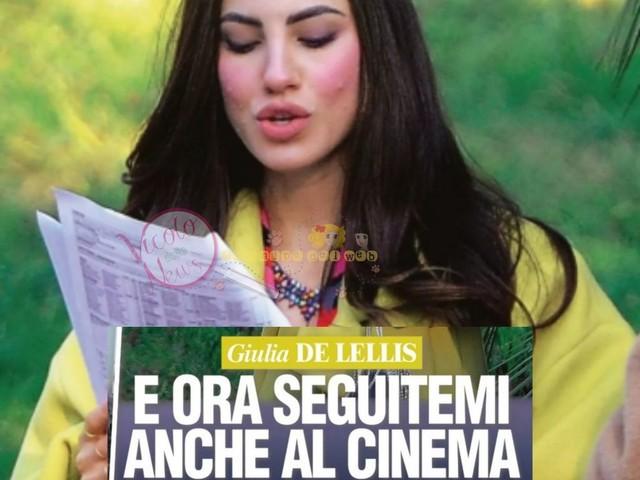 Giulia De Lellis diventa attrice. Paparazzata sul set e in giro per Roma con il fidanzato Carlo Beretta