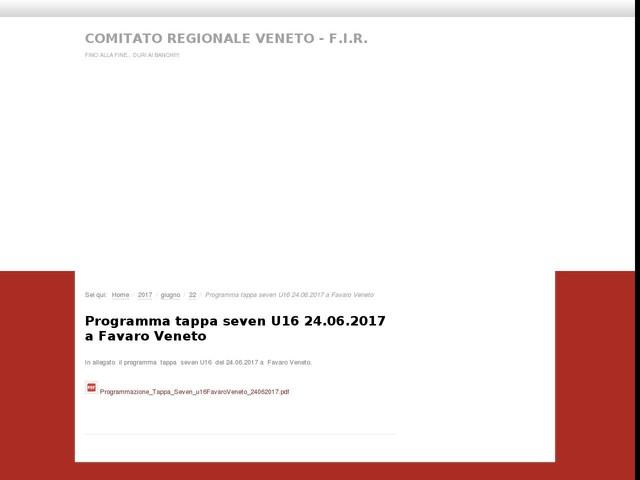Programma tappa seven U16 24.06.2017 a Favaro Veneto