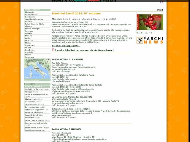 Ente di gestione delle aree protette dei Parchi Reali - Menù dei Parchi 2018: III° edizione
