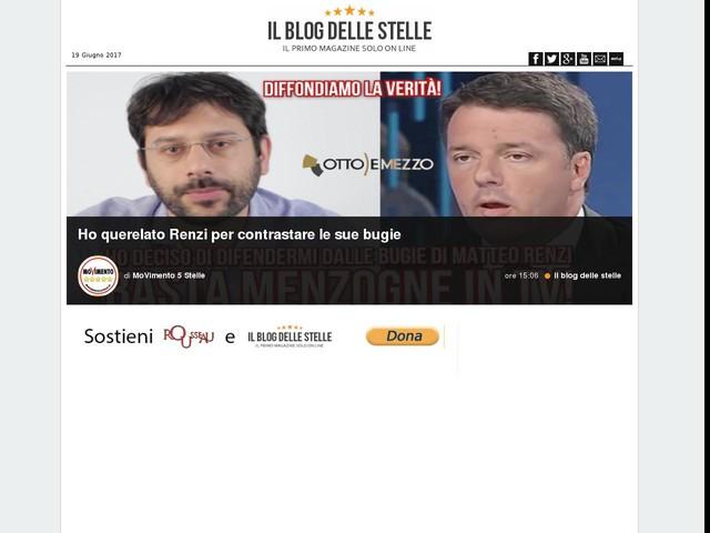 Ho querelato Renzi per contrastare le sue bugie