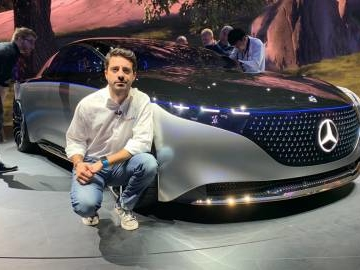 Mercedes EQS in video dal Salone di Francoforte 2019