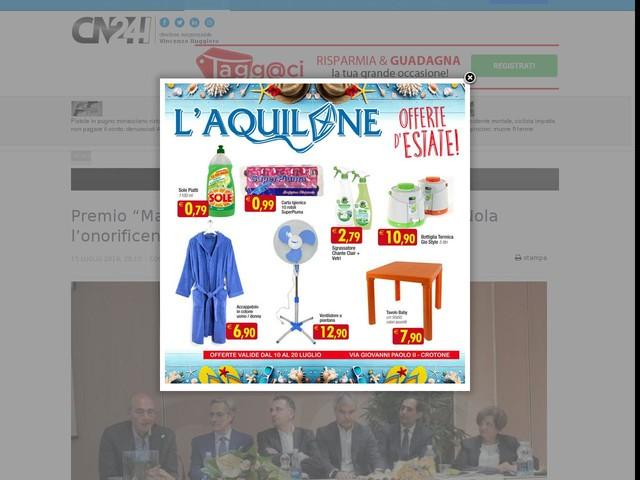 """Premio """"Mariano Turano"""": all'imprenditore Luigi Nola l'onorificenza """"Impresa di successo"""""""