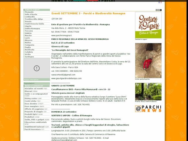 Ente di gestione per i Parchi e la Biodiversita' - Romagna - Eventi SETTEMBRE 3 - Parchi e Biodiversità Romagna