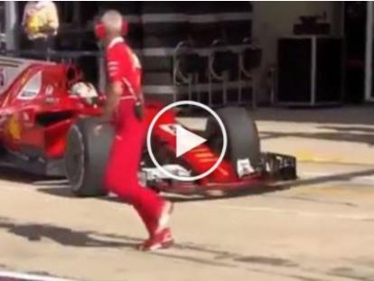 F1, Gp Austin: Vettel ma che combini? Il tedesco sbaglia box e rischia di investire un suo meccanico [VIDEO]