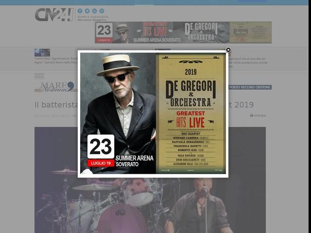 Il batterista di Springsteen apre il Reggio Live Fest 2019