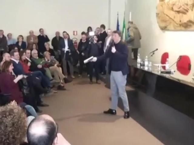 """Renzi: """"Chi ci ha fatto la guerra ha dato il Paese in mano al Matteo sbagliato"""""""