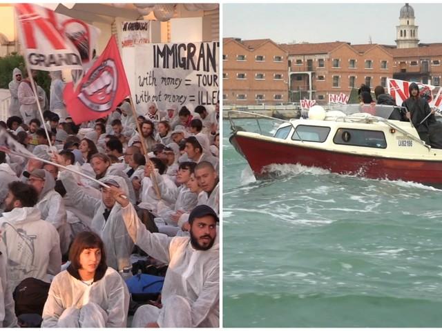 Venezia, alla Mostra del Cinema attivisti contro il riscaldamento globale occupano il red carpet. Azione di disturbo contro nave da crociera