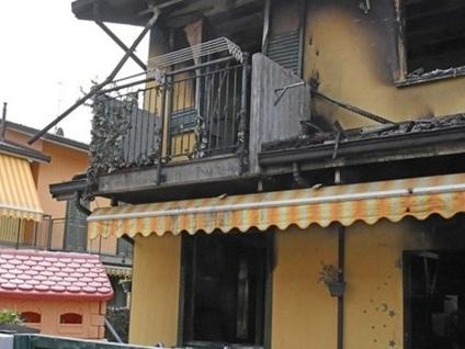 Incendio in una villetta a Mozzanica Famiglia in salvo grazie al vicino di casa