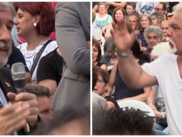 """Ponte Morandi, tensione tra cittadini e il sindaco Bucci: """"Chi pensa alla nostra salute?"""". """"È la priorità"""""""