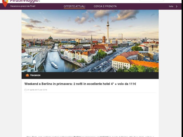 Weekend a Berlino in primavera: 2 notti in eccellente hotel 4* + volo da 111€