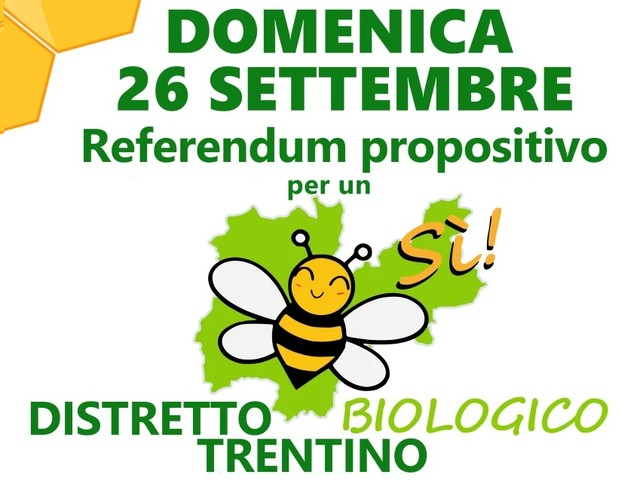 Referendum sul Biodistretto in Trentino: Legambiente e Comunità Laudato Si' invitano a votare sì