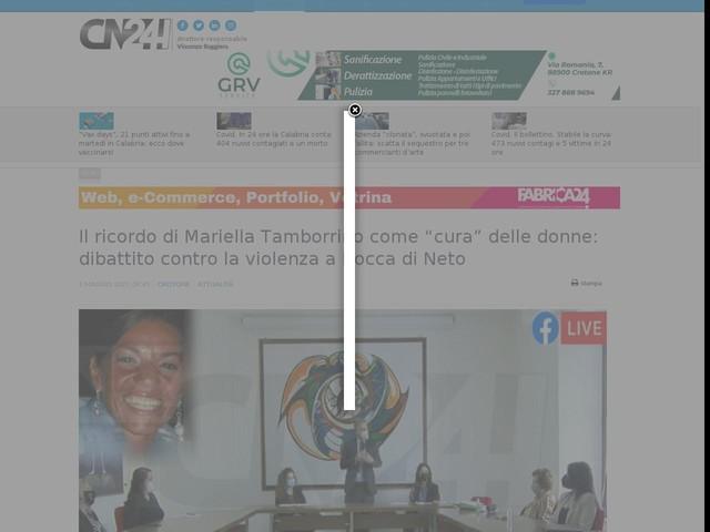 """Il ricordo di Mariella Tamborrino come """"cura"""" delle donne: dibattito contro la violenza a Rocca di Neto"""