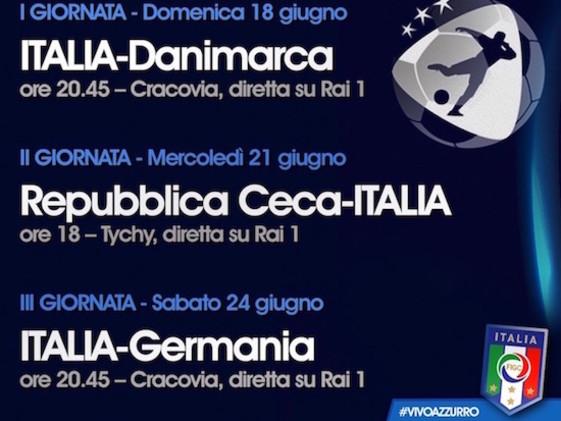 Europei Under 21: le sfide dell'Italia in diretta su Rai 1 – Il calendario