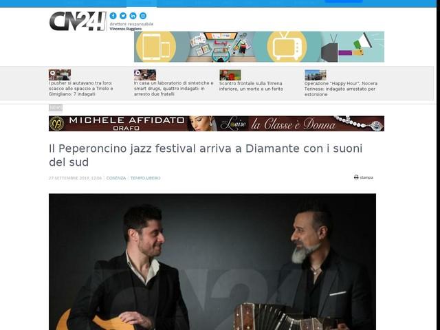 Il Peperoncino jazz festival arriva a Diamante con i suoni del sud