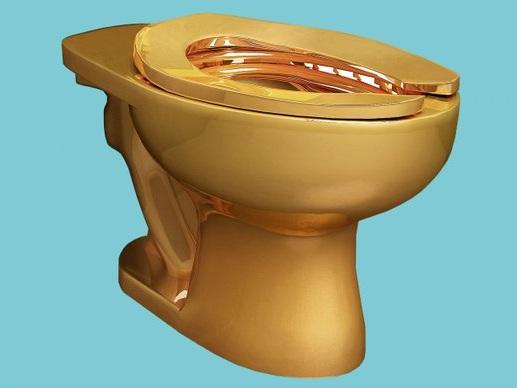 Rubato wc d'oro dalla casa di Churchill