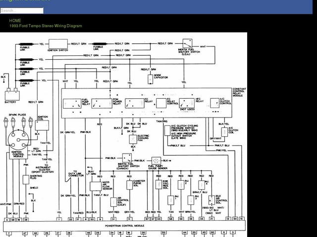 Ford Tempo Stereo Wiring Diagram