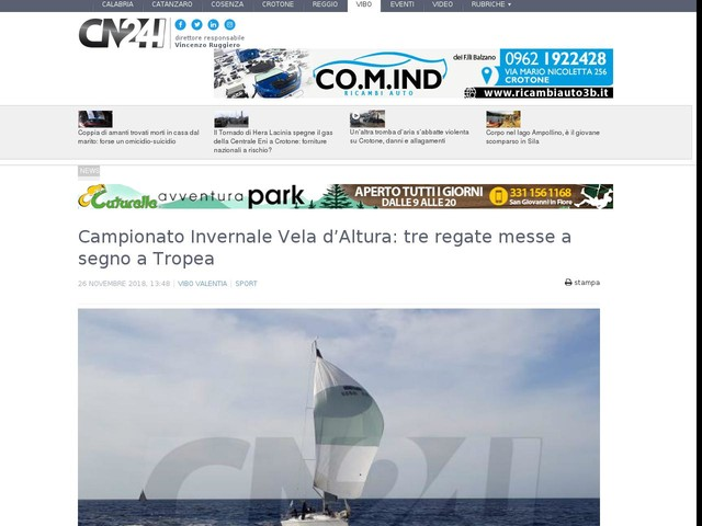 Campionato Invernale Vela d'Altura: tre regate messe a segno a Tropea