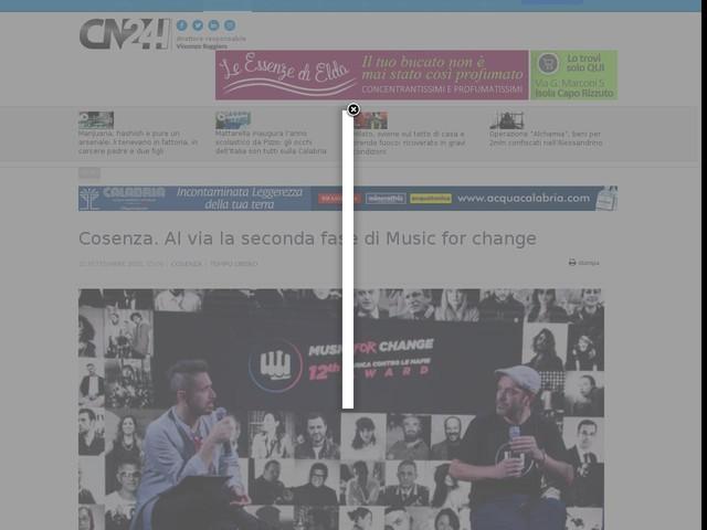 Cosenza. Al via la seconda fase di Music for change