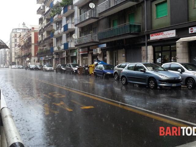 Dopo la 'tregua' torna la pioggia su Bari e provincia: in arrivo nuova ondata di maltempo